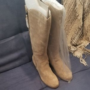 Brand New real suede knee high boots